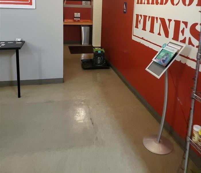 gym with water damage