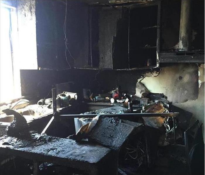 house with fire and soot damage